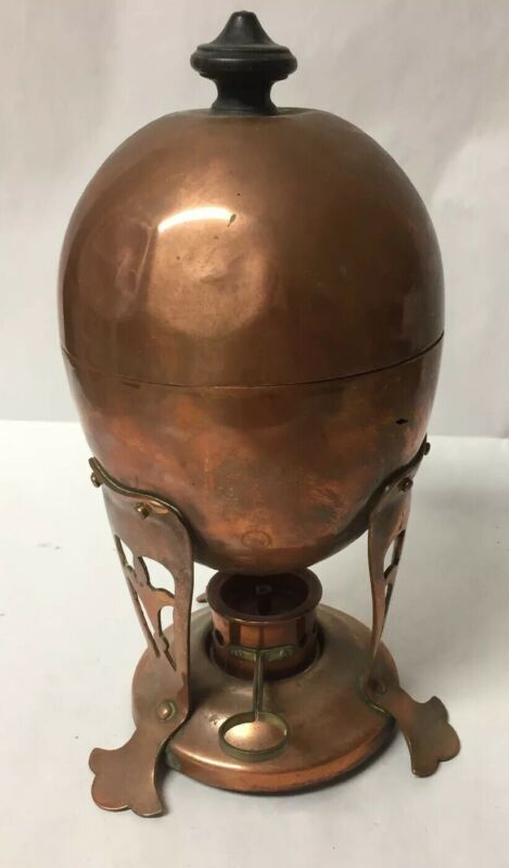ANTIQUE JOSEPH HEINRICHS PURE COPPER EGG COOKER / WARMER ARTS AND CRAFTS