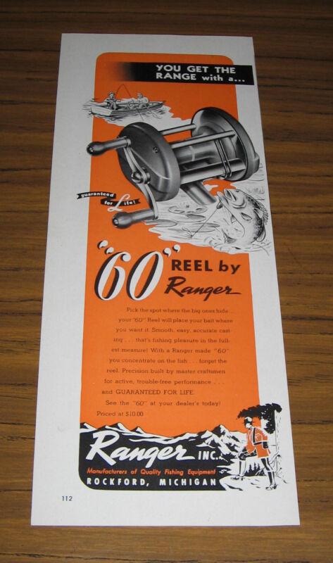 1947 Vintage Ad Ranger 60 Fishing Reels Rockford,MI