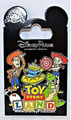 Disney Hollywood Studios Exclusive 2018 Toy Story Land Logo Woody & Gang Pin NEW