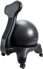 Balance Ball Chair with Back Support for Home and Office - Ergonomic Furniture