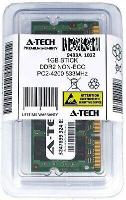 A-Tech 1GB PC2-4200 Laptop SODIMM DDR2 533 MHz 200-Pin Notebook Memory RAM 1x 1G 533 1gb Sodimm Notebook Memory