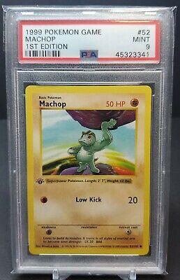 PSA 9 1st Edition MACHOP Holo Shadowless Rare MINT 1999 Pokemon Card Base Set