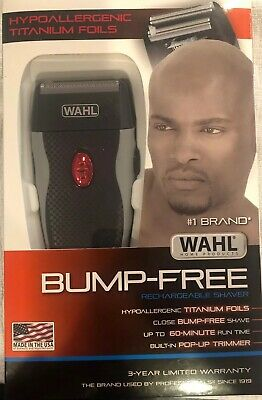 Wahl Clipper Bump-Free Rechargeable Titanium Foil Shaver 7339-300 BNIB