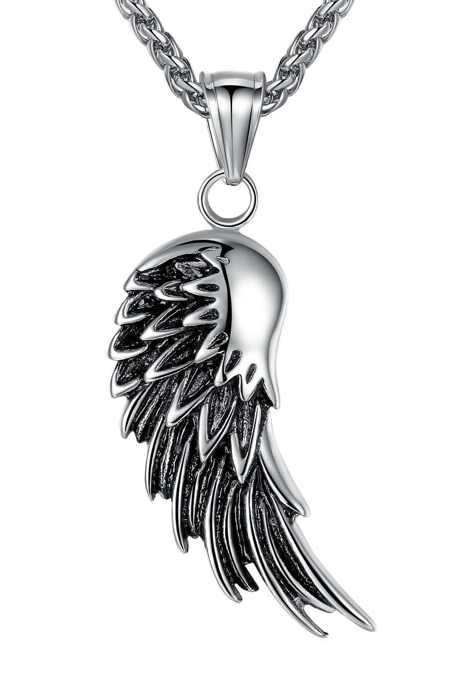 Stainless Steel Angel Wing Men's Women's Pendant Necklace Chains, Necklaces & Pendants