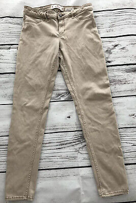 Hollister Khaki Pants Low Rise Super Skinny 7R 28x30