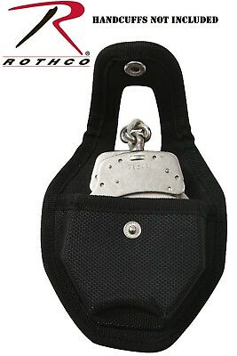 Handcuff Case Police Security Tactical Black Nylon Open Top Holder Rothco 20575