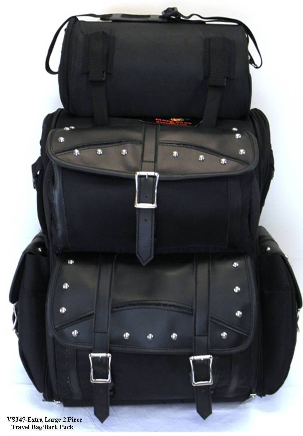 NEW MOTORCYCLE TRAVEL BAG BAGS SISSY BAR T BAR ALL NEW