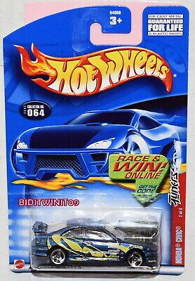 HOT WHEELS 2002 HONDA CIVIC #064 BLUE