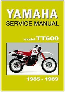 yamaha workshop manual tt600 1985 1986 1987 1988 and 1989. Black Bedroom Furniture Sets. Home Design Ideas