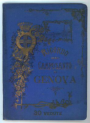 RICORDO DEL CAMPOSANTO DI GENOVA STAGLIENO 30 VEDUTE 1910 CIRCA FORMATO GRANDE