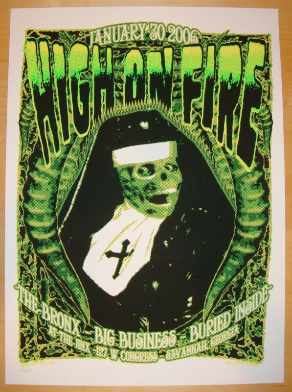2006 High on Fire - Savannah Silkscreen Concert Poster by Richie Goodtimes