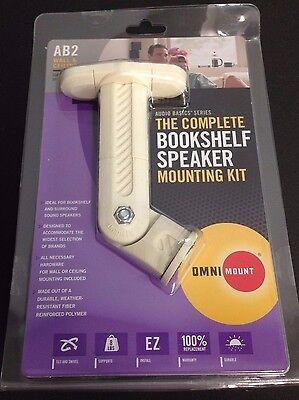 3 X Lot Audio Basics Series the complete bookshelf speaker mounting Kit - White (Black Bookshelf Series Speaker Mount)