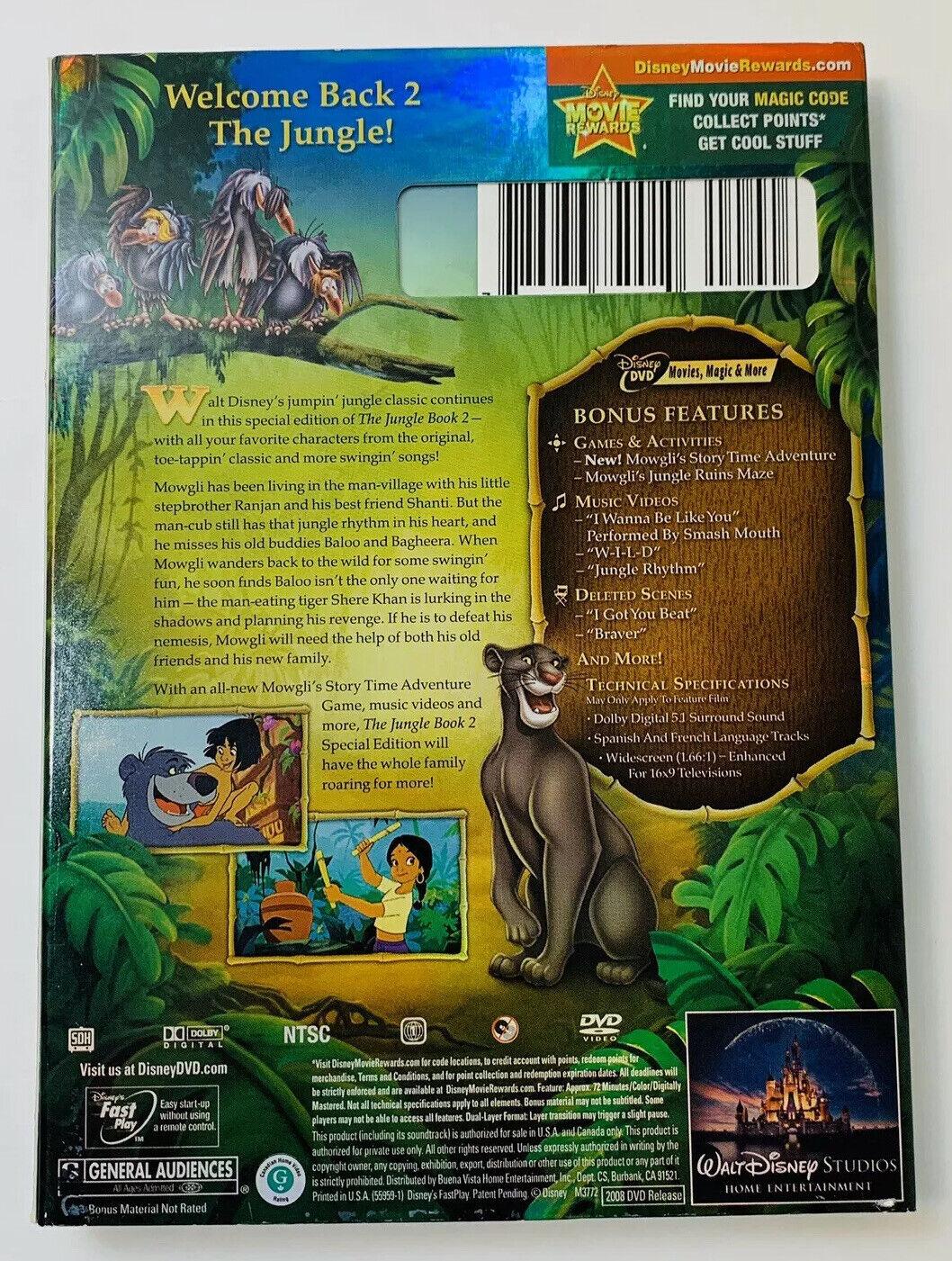 Jungle Book 2 DVD 2008 2 Disc Set Disney - $17.99
