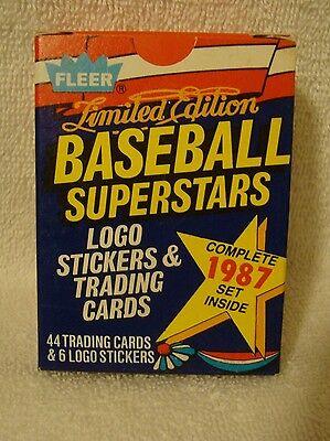 1987 Fleer Limited Edition Baseball Superstars Stickers & Cards MLB