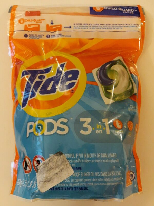 Tide Pods 35 Count Clean Breeze Scent 3 in 1 Detergent Stain Remover 1.75LB NEW!