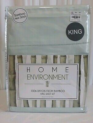 HOME ENVIRONMENT 100% RAYON FROM BAMBOO KING SHEET SET MSRP $425 **BRAND - Environments Sheet Set