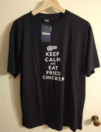 Keep Calm And Eat Fried Chicken Custom Made Men's XL T-Shirt