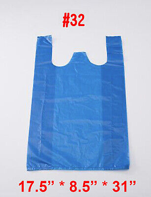 Jumbo Blue T-shirt Bags Plastic Shopping Bag Portable Carry Out Toy Bag