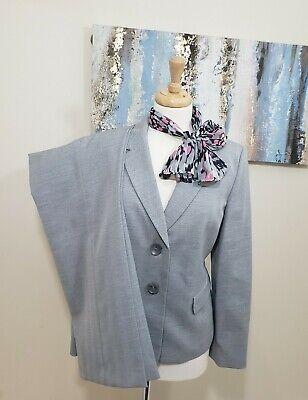 LE SUIT Women 2PC Elegant Gray Pant Suit Size 12P