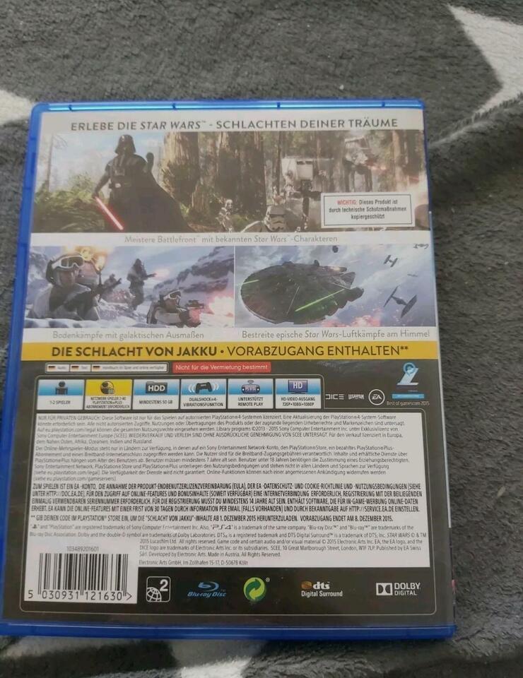 Star Wars Battlefront PS4 Spiele Tauschen in Hessen - Marburg