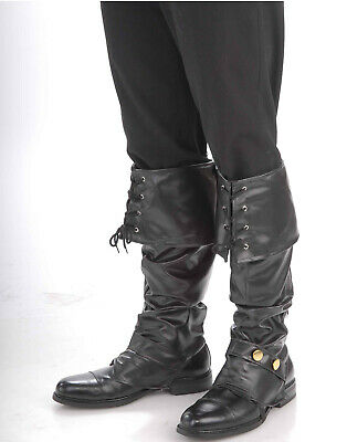 Luxus Piraten Renaissance Erwachsene Herren Halloween Kostüm Schwarze - Herren Piraten Kostüm Stiefel