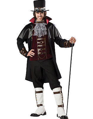 Edwardian Halloween Costume (Elite Steampunk Gothic Dracula Edwardian Vampire Mens Halloween)