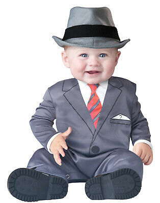 Baby Business Costume (Baby Business Mobster Infant Gangster Baby Boy Halloween Costume XS(0-6)