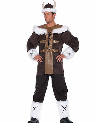 Viking Warrior Nordic Barbarian Medieval Mens Superior Quality Costume Halloween
