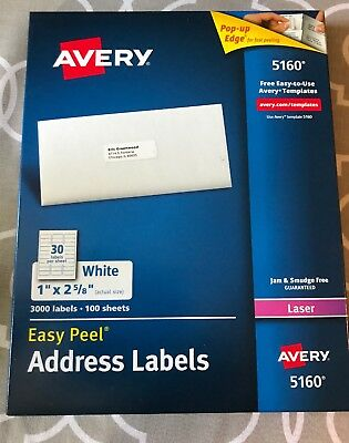 Avery-easy-peel-white-mailing-labels-5160-quantity-3000-labels Avery-easy-peel