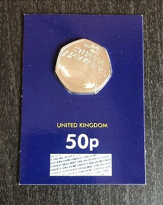 2019 Stephen Hawking 50p Brilliant Uncirculated In Blue Card