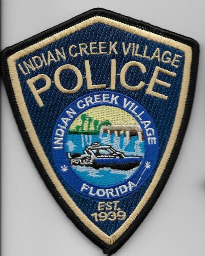 Indian Creek Villg Police State of Florida FL Shoulder Patch