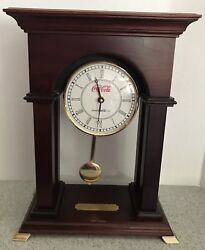 Coca Cola Pendulum Mantle Clock Success Achieved Together By Swire Clock