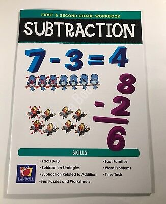 1st & 2nd Grade Workbooks for Subtraction- Common Core - NEW (Common Core 2nd Grade)