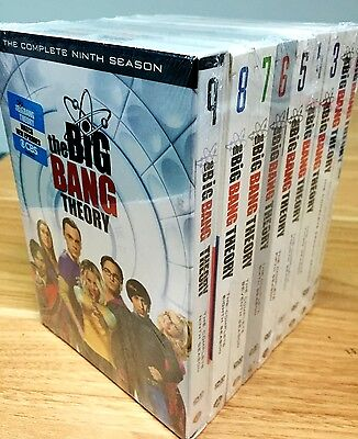 The Big Bang Theory Seasons 1 9 Complete Series Season 1 2 3 4 5 6 7 8 9 Dvd New