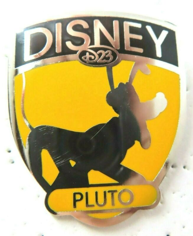Disney Pin D23 Membership Exclusive - Fab 5 Shield Series - Pluto #78416