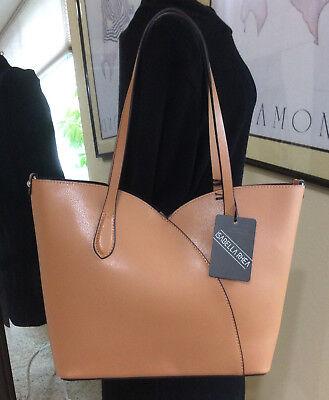 Isabella Rhea Italy CognacTulip Shoulder Bag w/ Snap in Pouch & Cross Body Strap