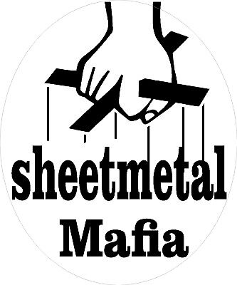 Sheetmetal Mafia Hard Hat Sticker Ctw-17