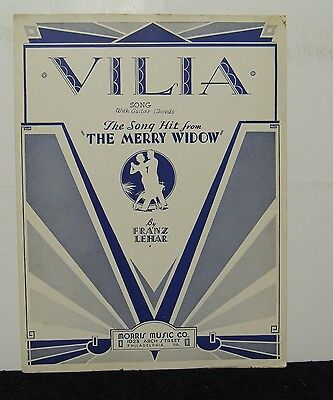 The Merry Widow Songs - VILIA Sheet Music from 1934 The Hit Song from