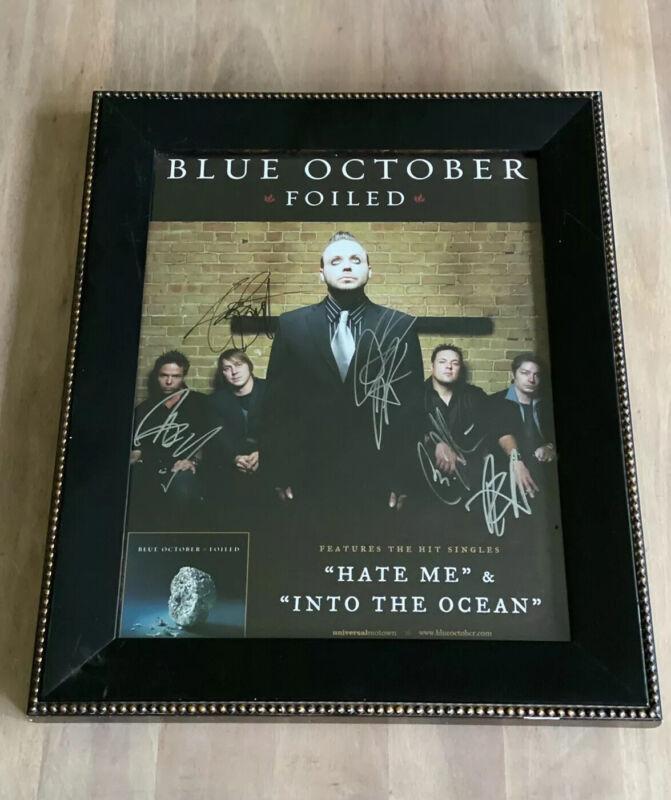 Blue October Foiled  Album SIGNED AUTOGRAPHED 11x14 Framed poster Hate Me