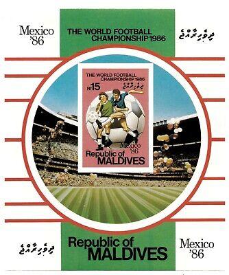 Maldives 1986 SC# 1180 World Cup Soccer, Football - Imperf Souvenir Sheet MNH