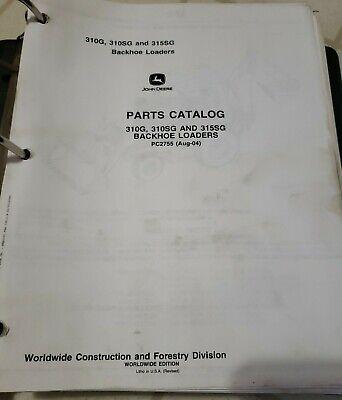 John Deere 310g 310sg 315sg Backhoe Loader Parts Catalog Manual Pc2755