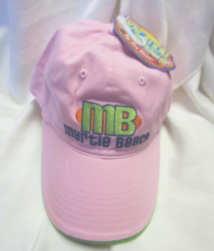 Myrtle Beach South Carolina SC Pink Embroidered Souvenir Vacation Cap Hat NEW