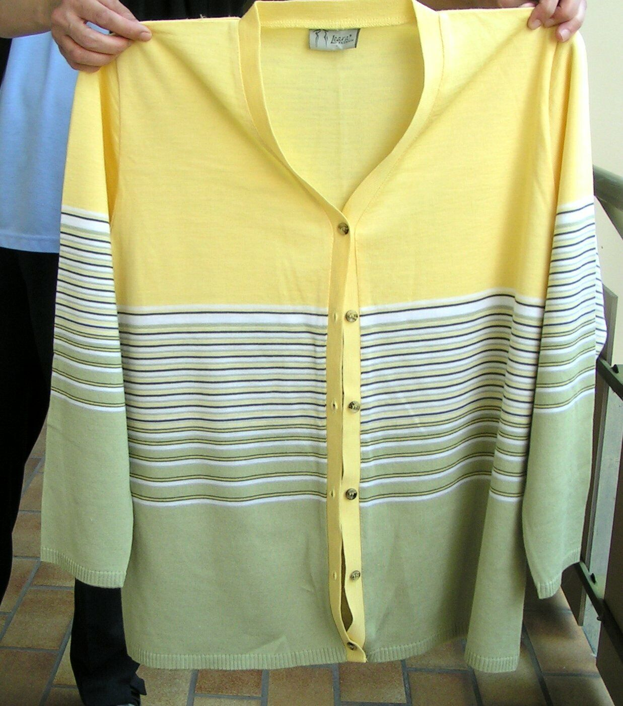 Damen Strickjacke von Leaxa Fashion   Größe 50  in Gelb Bunt   #1