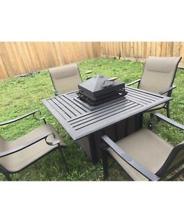 Patio set with fire/grill