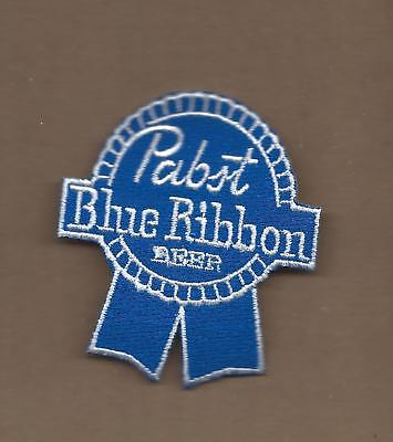NEW 2 3/4 X 3 1/8 INCH PABST BLUE RIBBON IRON ON PATCH FREE SHIPPING