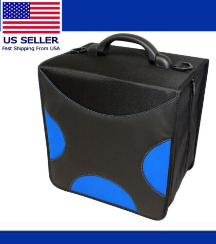 520 BLUE Cloth Disc CD DVD Bluray Storage Holder Organizer  Sleeve Carrying Case