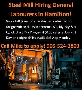 HIRING STRONG MANUFACTURING WORKERS IN HAMILTON! DAYS/NIGHTS!