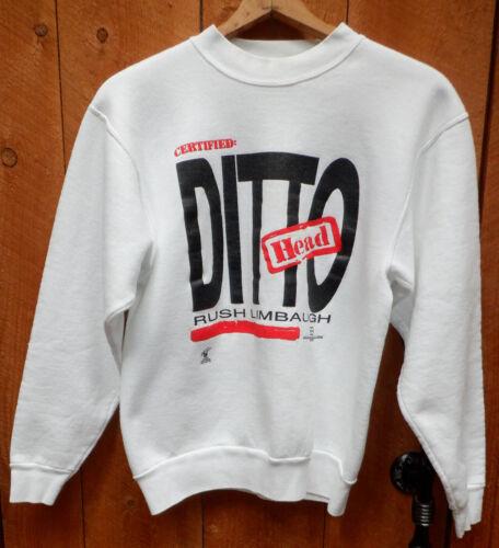 Rare Rush Limbaugh -    Certified: Ditto Head - Sweatshirt     EIB    Size L