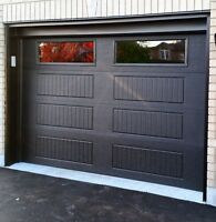 8x7 BLACK INSULATED CARRIAGE GARAGE DOORS... $1000 INSTALLED