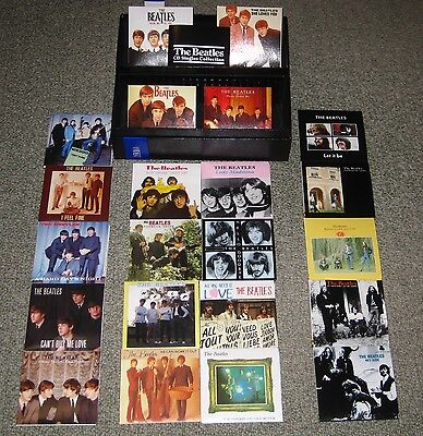THE BEATLES Japan 22 x card sleeve CD single BOX SET obi JOHN LENNON limited edn
